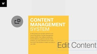 Webydo Tutorial: Content Management System