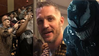 Tom Hardy Surprises Fans at a Venom Screening