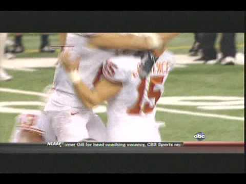 Game Winning Fieldgoal Texas Longhorns vs Nebraska Cornhuskers Dec 5th 2009 Video