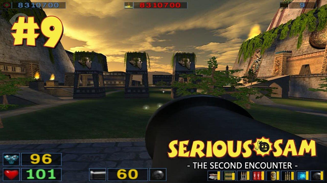 Serious Sam: The Second Encounter прохождение игры - Уровень 9: Вавилонская башня (All Secrets Found)
