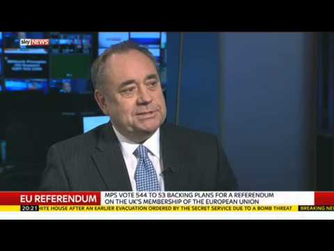 Alex Salmond On EU Referendum
