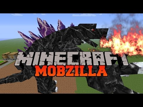 Minecraft: MOBZILLA! (STRONGEST BOSS MOB IN MINECRAFT!) Mod Showcase