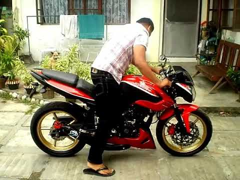 BAJAJ PULSAR 135 LS/ KAWASAKI ROUSER 135 LS CUSTOM MADE PIPE SOUND,RIDE STANCE AND QUICKIE BURN OUT