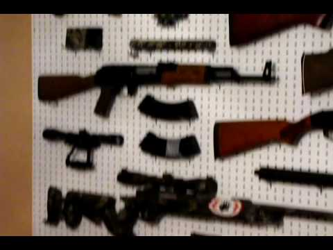 how to hang your guns up youtube. Black Bedroom Furniture Sets. Home Design Ideas