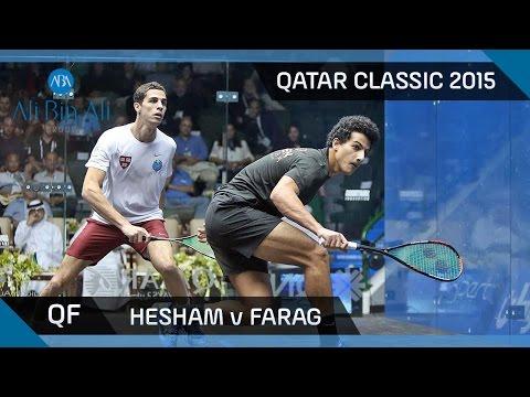 Squash: Qatar Classic 2015 - Men's QF Highlights: Hesham v Farag