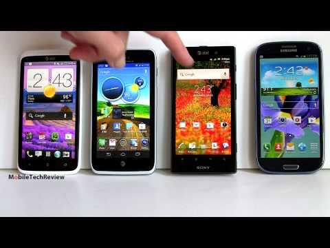 HTC One X, Motorola Atrix HD, Samsung Galaxy S III and Sony Xperia Ion Smackdown