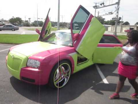 Lime Green & Pink Chrysler 300 Custom Paint & Interior  / Johns Restoration