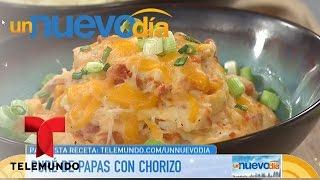 Recetas de cocina: Cómo hacer Puré de Papas con Chorizo | Un Nuevo Día | Telemundo