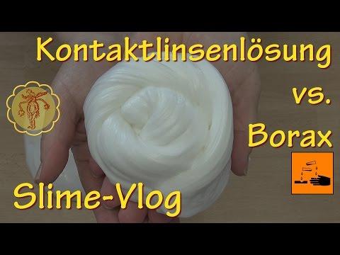 Slime-Vlog: Fluffy-Test: Kontaktlinsenlösung vs. Borax