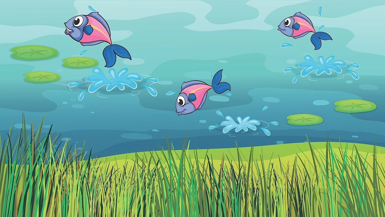 5 little fishies in the sea kids 39 songs youtube for Little fish swimming