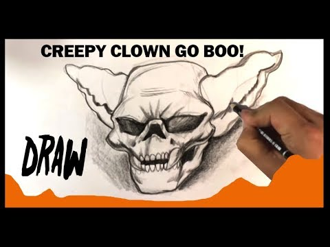 download how to draw scary clown halloween drawings 1338