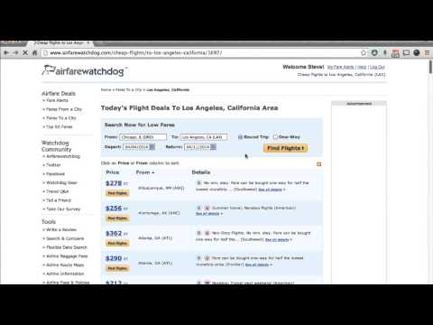 How to Find Cheap Flights to a City Using Airfarewatchdog.com