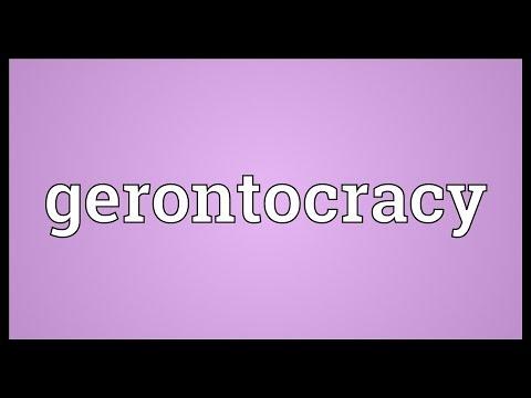 Header of gerontocracy