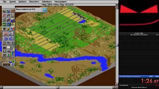 SimCity 2000 (DOS) - 30k population Speedrun in 2:41.90