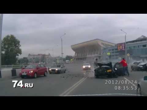 ДТП авария Челябинск KIA VS Subaru лобовое ЖЕСТЬ