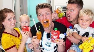 BABY FOOD CHALLENGE with Babies!!!!! Daily Bumps Vs. Collins Key