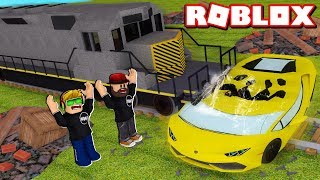 ALL CRUSHERS UNLOCKED, DESTROYING THE MOST EXOTIC CARS IN THE WORLD in ROBLOX CAR CRUSHERS 2