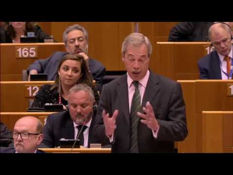 Nigel Farage EPIC EU Exit Speech In European Parliament   Jean Claude Juncker