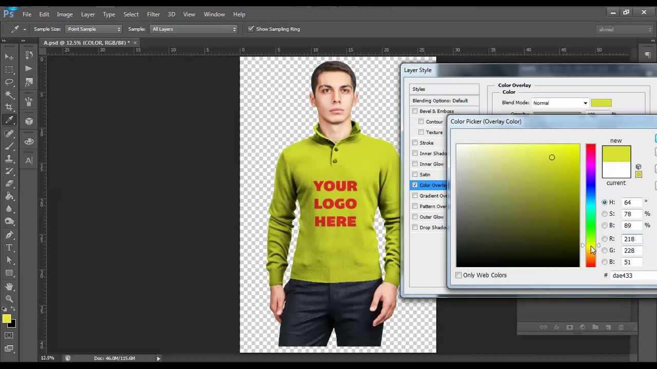 Photoshop Sweater Tutorial Male Sweater Mockup Tutorial