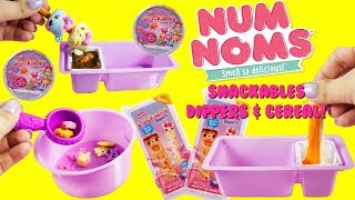 NUM NOMS Snackables Dippers and Cereal! Slime Color Changing Dip