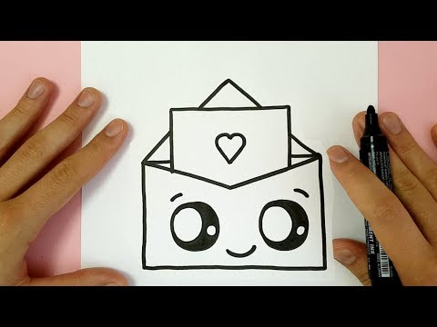 HOW TO DRAW A SUPER CUTE LOVE ENVELOPPE - VALENTINE'S DAY