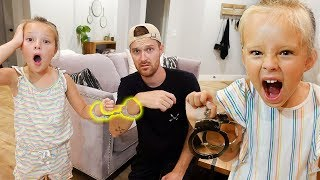 24 HOURS HANDCUFFED My Big SISTER To My DAD! **Lost Keys** (Revenge)