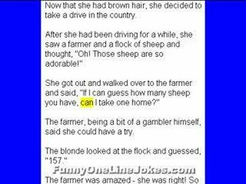 blonde jokes  extremely funny jokes lol collection 1   youtube