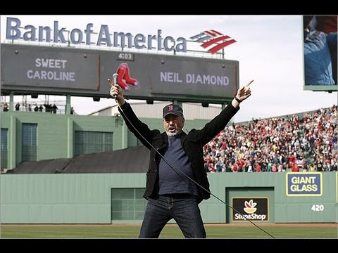 Neil Diamond sings 'Sweet Caroline' at Fenway Park 4/20/13
