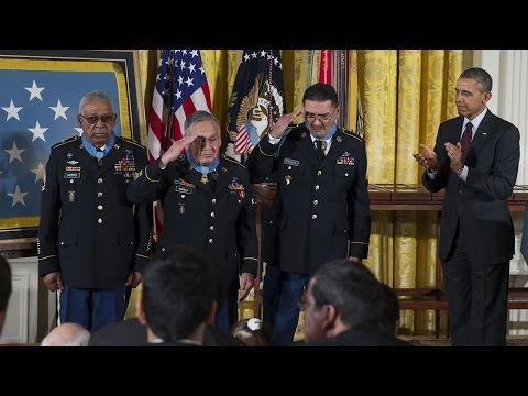 President Obama Awards Medal of Honor to 24 Vets