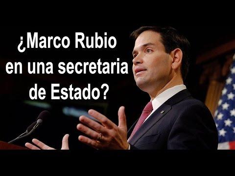 ¿Marco Rubio en una secretaria de Estado?