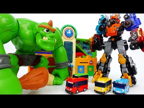 Go Go Dino-Core~! Defeat Monster Bugs & Giant Ogre - ToyMart TV