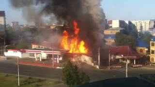 Explosion of gas station
