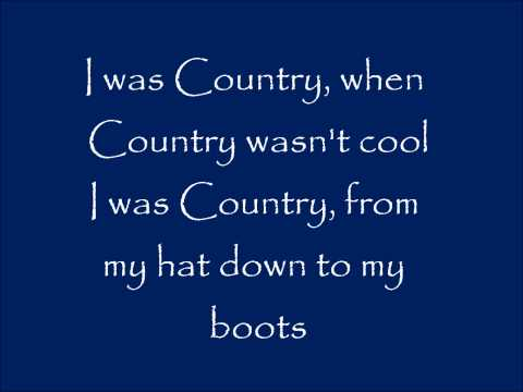 I Was Country When Country Wasn\'t Cool   Lyrics   Barbara Mandrell picture