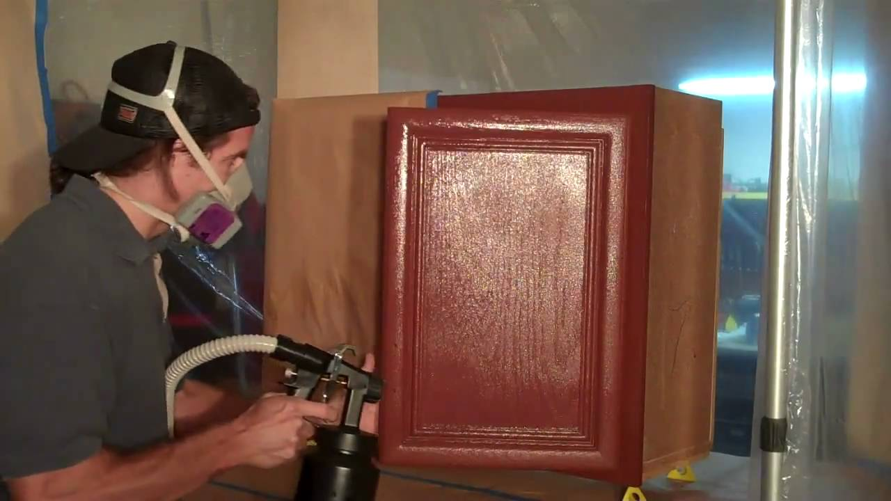 Refinishing Kitchen Cabinets - YouTube