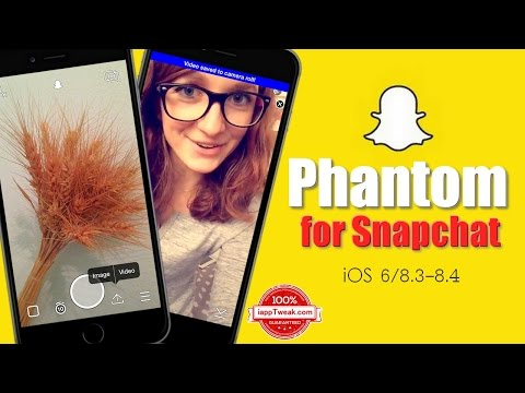 Phantom for Snapchat  tweak that allows you to do a whole bunch of cool stuff