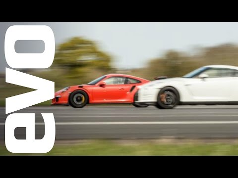 Nissan GT-R vs Porsche 911 GT3 RS - which is fastest?   evo DRAG BATTLE