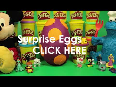 Play Doh Eggs Easter Eggs Surprise Eggs Mickey Mouse Cookie Monster Peppa Pig