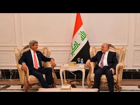 Kerry in Iraq to seal alliance against Islamic State militants