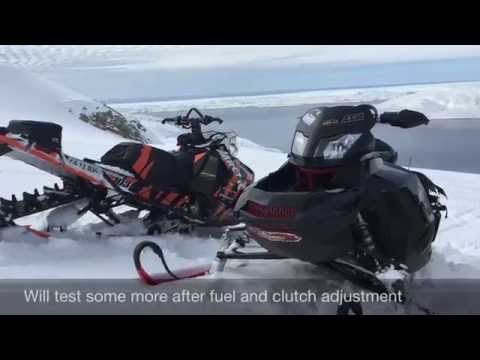 Skidoo 1200 turbo test ride new clutch still need fuel and clutch adjusting