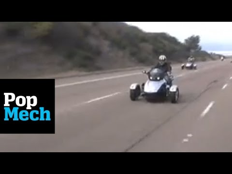 Three-Wheeled Motorcycle Test Drive