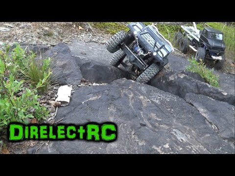 RC trail running with various Axial RC vehicles - DirelectRC