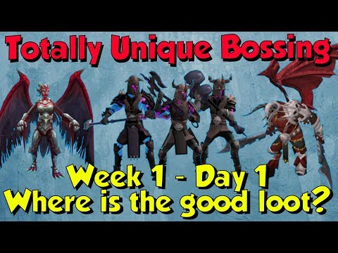 Week 1, Day 1 - Totally Unique Bossing #1 [Runescape 3] Bad RNG!