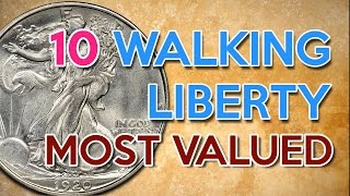 👑10 Most valuable Walking Liberty coins and his Values 2017 - 🇺🇸 Silver coins