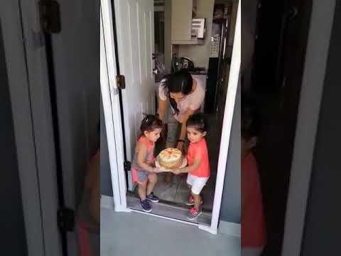 Bella and Vienna celebrating nana's Birthday