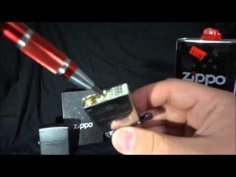 how to open a zippo lighter to refill