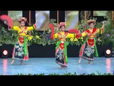 Tari Kembang Kipas + Topeng Betawi - Gema Citra Nusantara @ Llangollen International Eisteddfod 2016