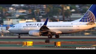 United Airlines Boeing 737-700 Takeoff San Diego