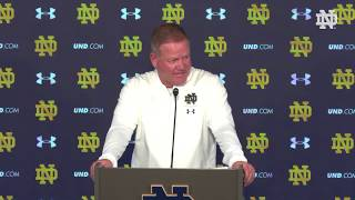 @NDFootball | Brian Kelly Post-Game Press Conference vs. Pittsburgh (2018)