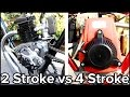 2-Stroke vs 4-Stroke Motorized Bicycle (GoPro)