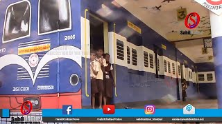 Bhatkal Government school Mudshirali gets Railway themed classrooms